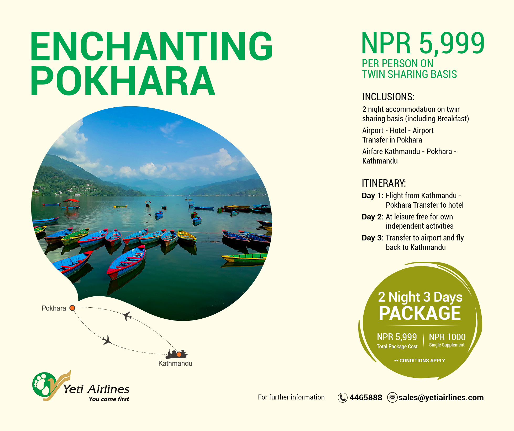 Enchanting Pokhara - 3 Star Category